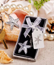 50 Starfish Key Chain Beach Theme Beautiful Wedding Favor Shower Bulk Event Lot