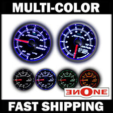 52mm 4 LED color 30psi Boost & Air Fuel Ratio AFR Gauges Gauge Combo