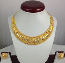 Necklace Earrings Jewelry set Gold Plated Bollywood Ethnic Designer Jewellery