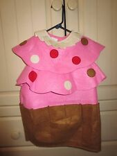 Pottery Barn Kids Toddler 2T 3T Pink Cupcake Sprinkles Costume Halloween Girls