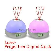 Laser Projection Digital 7 Color Changing LED Funny Alarm Clock Battery Power