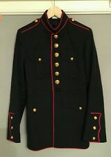 Usmc jacket vintage marine corps military war uniform rare steampunk S37 wedding