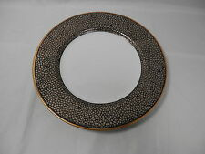NEW Salad Plate (s) SHAGREEN II CHARCOAL White Fitz and Floyd USA