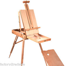 French Easel Wooden Sketch Box Portable Folding Durable Artist Painters Tri