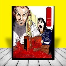 "New THE SHINING artist signed ""HERE'S JOHNNY!"" Overlook Hotel horror POSTER ART"