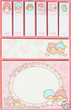 Little Twin Stars Memo Note Pads Sticky Post-it / Sanrio Japan