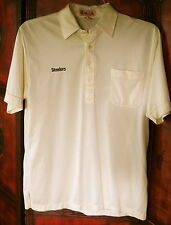 Pittsburgh Steelers Antigua Embroidered Pique Xtra-Lite Yellow Polo/Golf Shirt