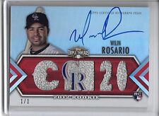2012 Triple Threads WILIN ROSARIO 3X AUTO AUTOGRAPH PATCH RC #1/1 ROCKIES!!