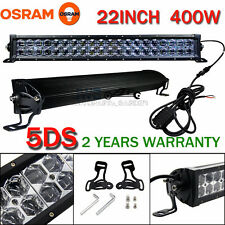 "5DS OSRAM 22"" 400W + Light-Sensitive Probe LED LIGHT BAR FLOOD SPOT OFF-ROAD LAM"