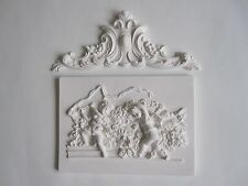 SHABBY CHIC FRENCH COUNTRY  CHERUBS  WALL PLAQUE DECORATIVE FINISHING MOULDING.