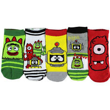 5 PAIR Yo Gabba Gabba Get the Sillies Out Green Socks Fit 4-6 Shoe Size 7-10 NWT