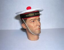 Banjoman 1:6 Scale Custom Made French Sailor's hat - Marine Nationale - White