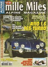 MILLE MILES 55 ALPINE A110 1600 16S TURBO 180CH A110 ASEPTOGYL R11 TURBO GrA 185
