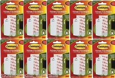 10x 3M COMMAND SAWTOOTH PICTURE & FRAME HANGER 17040 1 Hook 2 Large Strips 2.2Kg