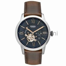 Fossil Original ME3110 Men's Townsman Automatic Brown Leather Watch 44mm