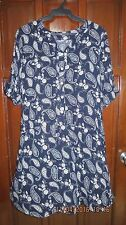 Plus size shirtdress, drawstring waist XXL
