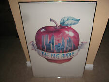 "NEW YORK VINTAGE""THE BIG APPLE"" 1976 POSTER W/THE TWIN TOWERS. WITHOUT FRAME!"