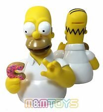 The Simpsons Family Homer Bust Bank Figure Coin Piggy Bank with Doughnut