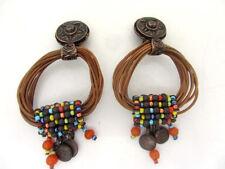 anciennes boucles d'oreille ethniques signées MATIERE PREMIERE PARIS earrings