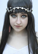 GLASS CRYSTAL JEWEL CHAIN STUDDED GOTH ALT FESTIVAL GRUNGE INDIE HEAD BAND