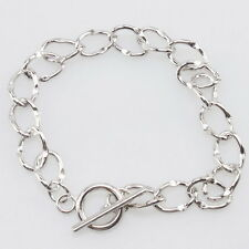 7pcs Alloy European Bracelet Fit Charm Dangle Jewelry Making 21cm On Sale D