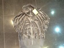 "NWT  Juicy Couture New & Gen. Ladies Small Grey Velour Jacket With ""J"" Pull"