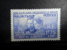 MAURITANIA French Colonies 1938 CURIE SCIENCES Mint MH - VF - r37b1720
