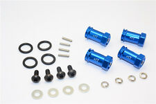 Traxxas Slash 4X4 Upgrade Parts Aluminum Hex Adaptor (+17mm) - 4 Pcs Set Blue