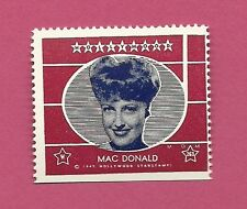 Jeanette MacDonald Movie Film Star 1947 Hollywood Sticker Stamp