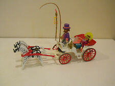 playmobil royal carriage princess horse harness driver pink queen 2 figures
