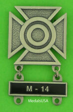 Army Sharpshooter Marksmanship Badge &  M-14 Qualification Attachment Bar  M14
