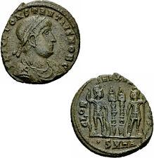 Constantius II Follis Heraclea 330-333 GLORIA EXERCITVS Soldaten RIC 118 - r²