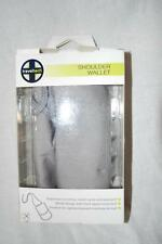 Traveltech 9057 Travel Gray Shoulder Wallet Zipper Pocket New W/ Box