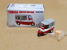 Tomica Limited Vintage LV-143b Daihatsu Midget Lotte Chewing Gum Red 1:64