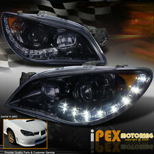 NEW 2006-2007 Subaru Impreza WRX STi LED DRL Projector Smoked Black Headlights