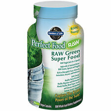 Garden of Life Perfect Food Raw Organic Green Super Food - 240 Vegan Capsules