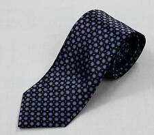 $230 Brioni NWT 100% Silk Hand Made in Italy Dark Brown Blue Pink Medallions Tie