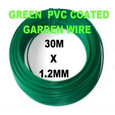 1 x ROLL OF PVC COATED GREEN GARDEN WIRE 30m x 1.2mm