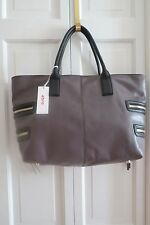 Abro Large Grey Leather Tote – NWT - $300+