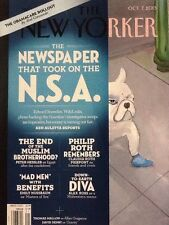 "The New Yorker Magazine ""The Newspaper That Took On the N.S.A."" Oct 2013"