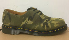 DR. MARTENS 1461 GREEN VERT BRITISH LARGE CAMO SUEDE  UNISEX SHOES SIZE UK 9