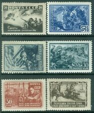 RUSSIA : 1942-43. Scott #867-72 Very Fine, Mint Never Hinged. Catalog $120.00.