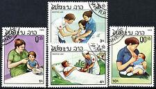 Laos 1985 Sg # 860-863 los servicios de salud Cto Usado Set #a 84816