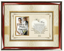 Parents Wedding Gift to Daughter or Son Wedding Present Picture Frame Mom Dad