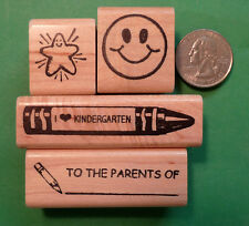Kindergarten Teachers' Rubber Stamp Set of 4 for general classroom use