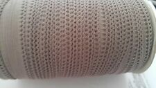 "Wholesale roll 144 yards TAUPE  picot elastic trim 7/16"" W. great for lingerie"