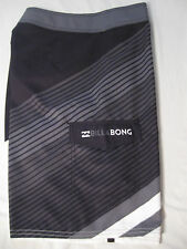 Billabong Mens Board Shorts NWT 30 Black/Gray/White 100% Polyester