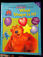 Bear in the Big Blue House Write/Wipe Activity Book: What Shape Is It? 2001