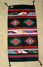 "Throw Rug Tapestry Southwest Western Hand Woven Wool 20x40"" Replica #414"