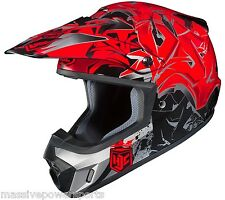 HJC CS-MX2 Motocross Helmet Graffed Red XXXL 3XL 3X ATV CS-MX CSMX II 2